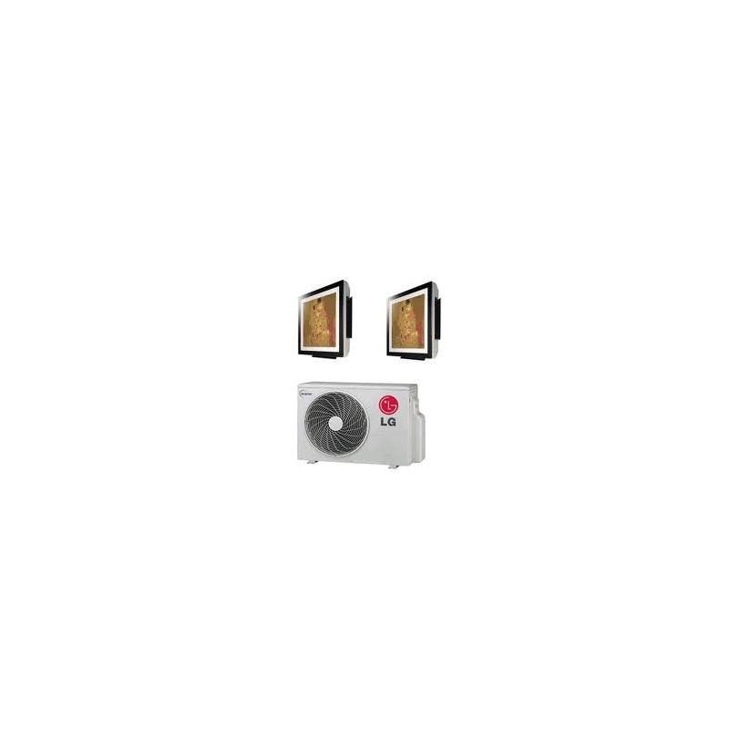 Climatizzatore Condizionatore Lg Dual Split 9+9 Inverter Art Cool Gallery 9000+9000 Btu Con Mu2m15 Ul3