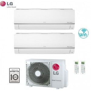 Climatizzatore Condizionatore Lg Dual Split 12+12 Inverter Libero Plus 12000+12000 Con Mu2m17 Ul4