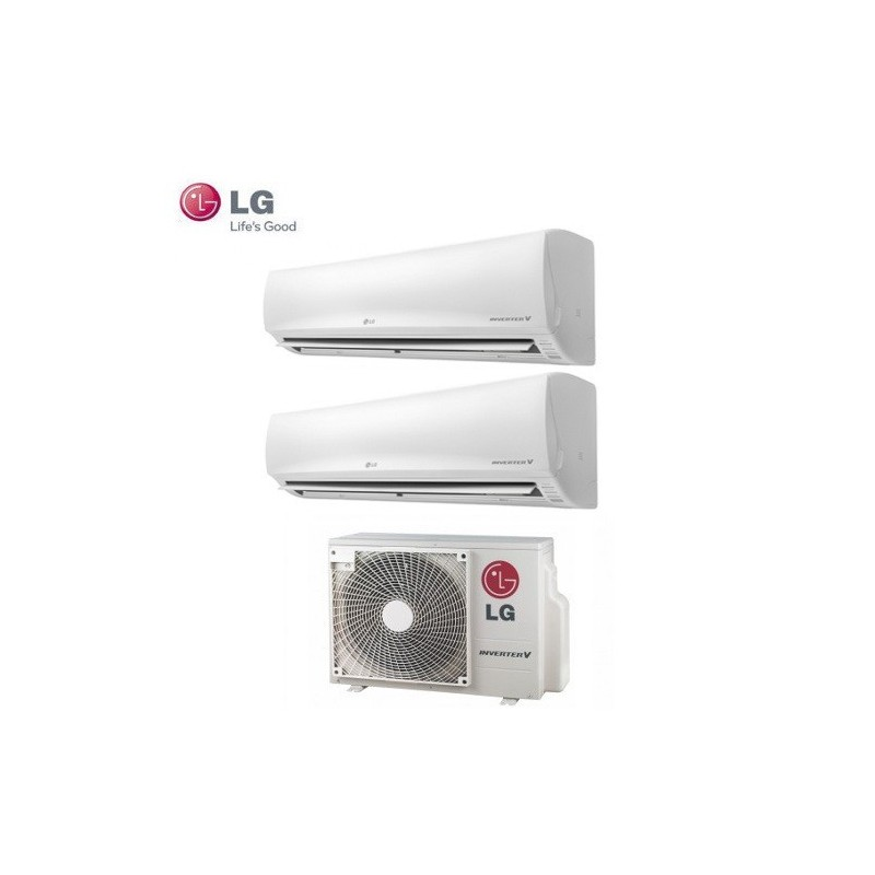 Climatizzatore Lg Dual Split Inverter Libero 9000+9000 Con Mu2m15 Ul3