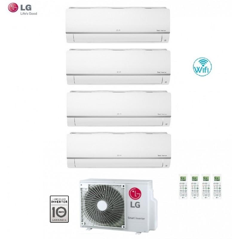 Climatizzatore Condizionatore Lg Quadri Split 9+9+9+18 Inverter Libero 9000+9000+9000+18000 Con U.e. Mu5m30 U44