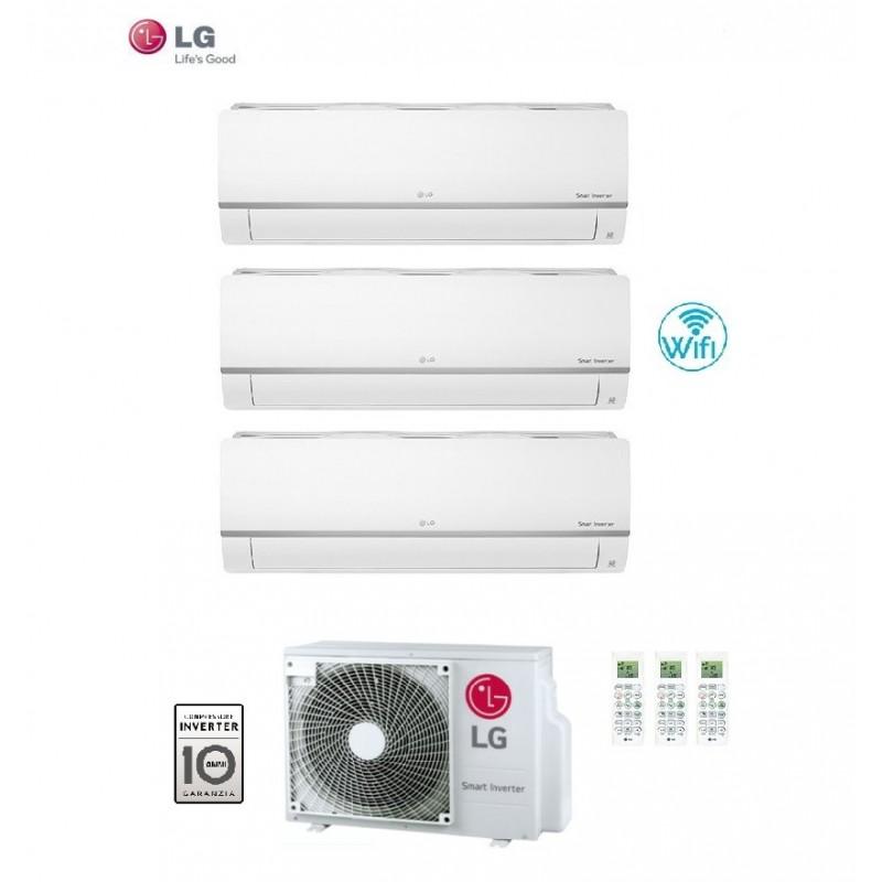 Climatizzatore Condizionatore Lg Trial Split 7+9+12 Inverter Libero Plus 7000+9000+12000 Con U.e. Mu3m19 Ue4