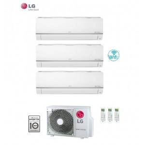 Climatizzatore Condizionatore Lg Trial Split 9+12+12 Inverter Libero 9000+12000+12000 Con U.e.mu3m21 Ue4 E Wi Fi Integrato