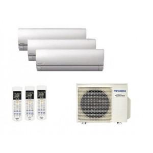 Climatizzatore Panasonic Trial Split Inverter Etherea Silver 9000+12000+12000