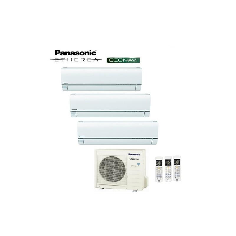 Climatizzatore Panasonic Trial Split Inverter Etherea White 9000+12000+12000