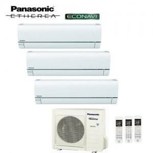 Climatizzatore Panasonic Trial Split Inverter Etherea White 9000+9000+12000