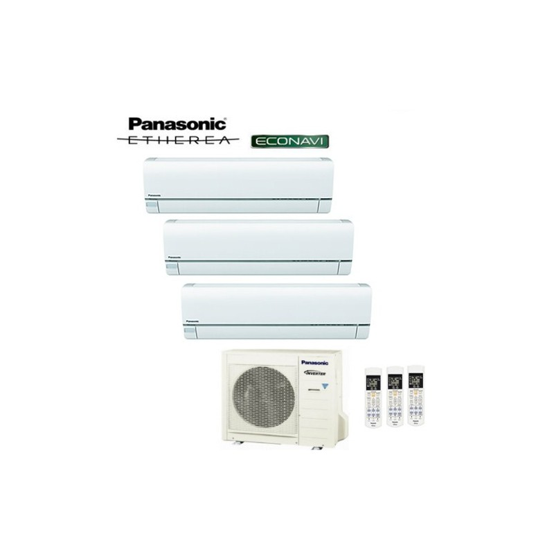 Climatizzatore Panasonic Trial Split Inverter Etherea White 9000+9000+9000