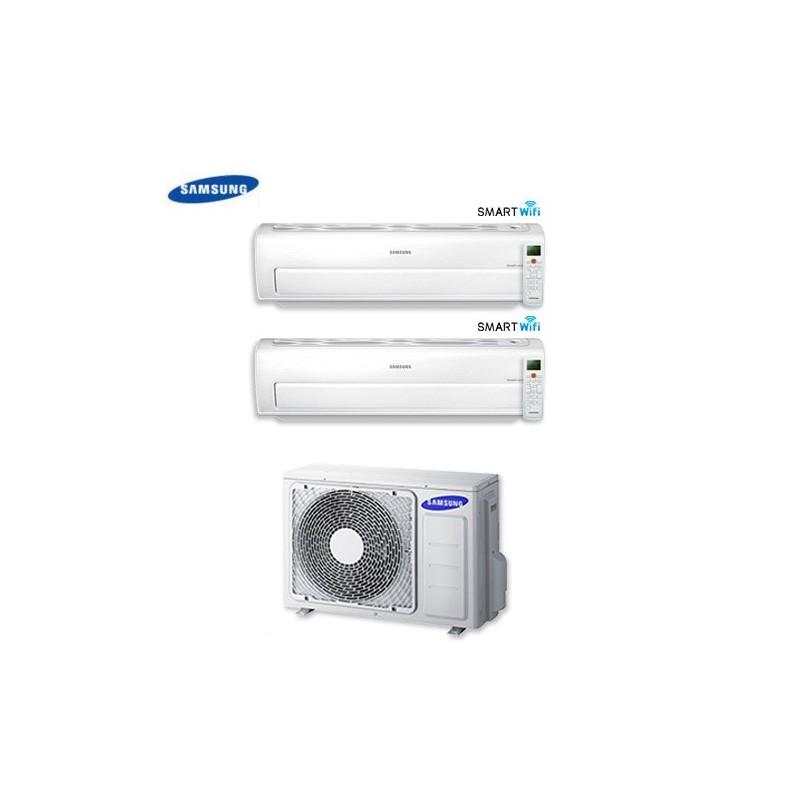 Climatizzatore Condizionatore Dual Split Samsung Inverter 12+12 Serie Ar7000m Smart Wifi 12000+12000 Btu Con Aj050fcj