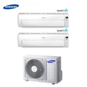 Climatizzatore Condizionatore Dual Split Samsung Inverter 9+12 Serie Ar7000m Smart Wifi 9000+12000 Btu Con Aj040fcj