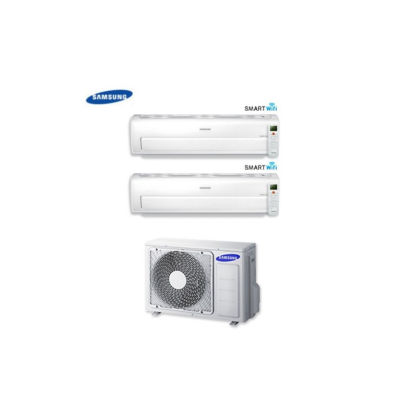 Climatizzatore Condizionatore Dual Split Samsung Inverter 9+9 Serie Ar7000m Smart Wifi 9000+9000 Btu Con Aj050fcj