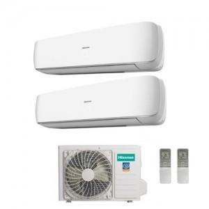 Climatizzatore Hisense Dual Split Inverter Serie Mini Apple Pie 9+12 Con Amw2-20u4szd1 - 9000+12000 Btu
