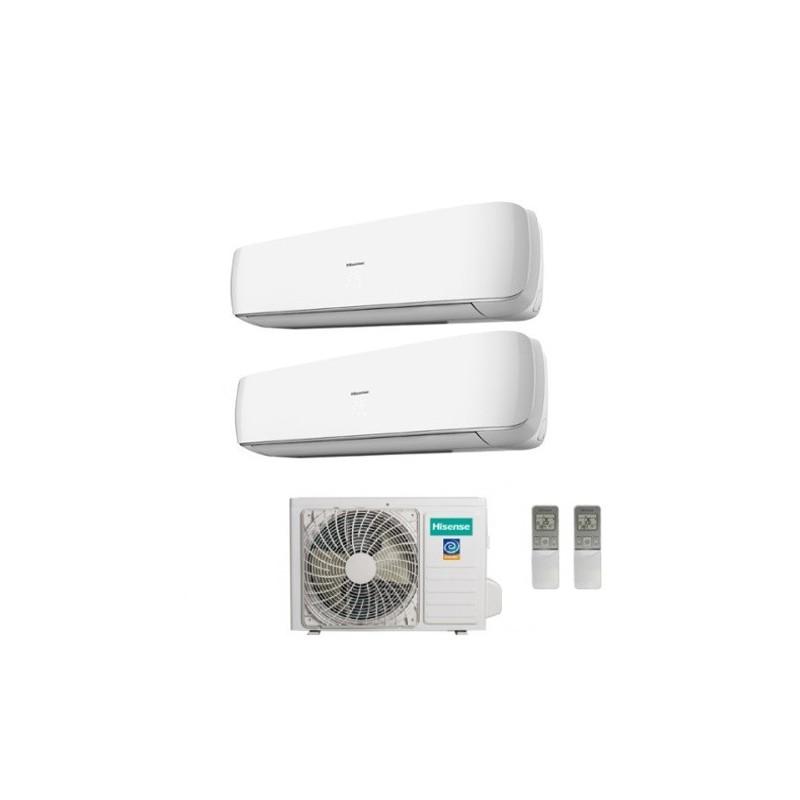 Climatizzatore Hisense Dual Split Inverter Serie Mini Apple Pie 9+9 Con Amw2-16u4sgd1 - 9000+9000 Btu -