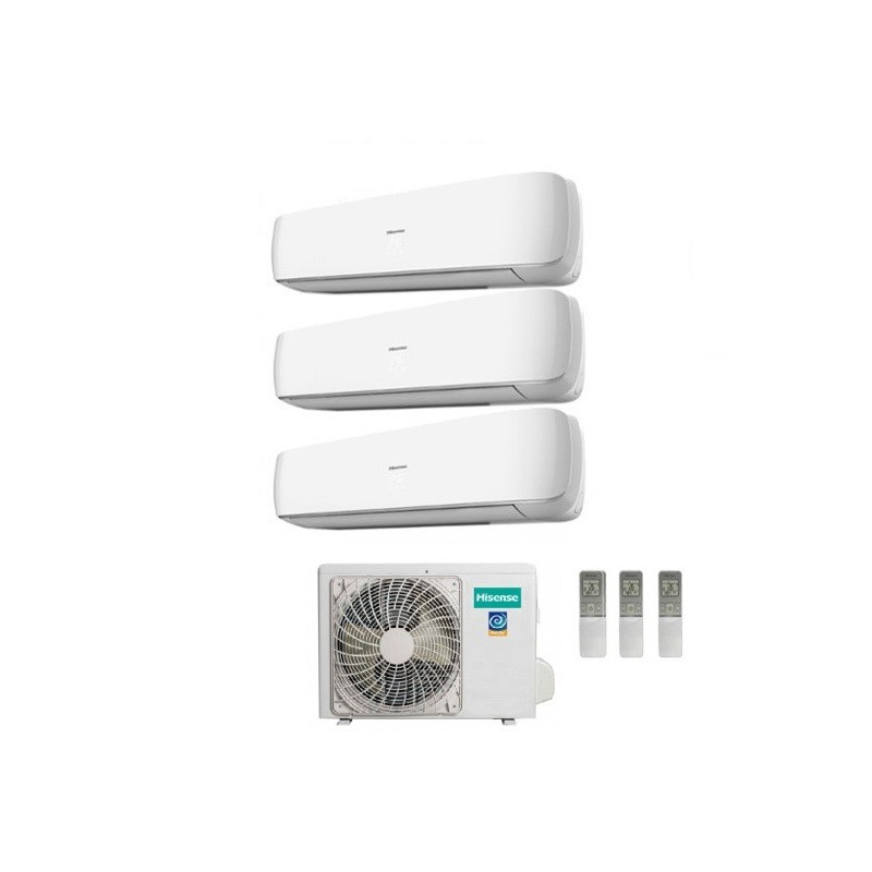 Climatizzatore Hisense Trial Split Inverter Serie Mini Apple Pie 9+12+12 Con Amw3-24u4sad1