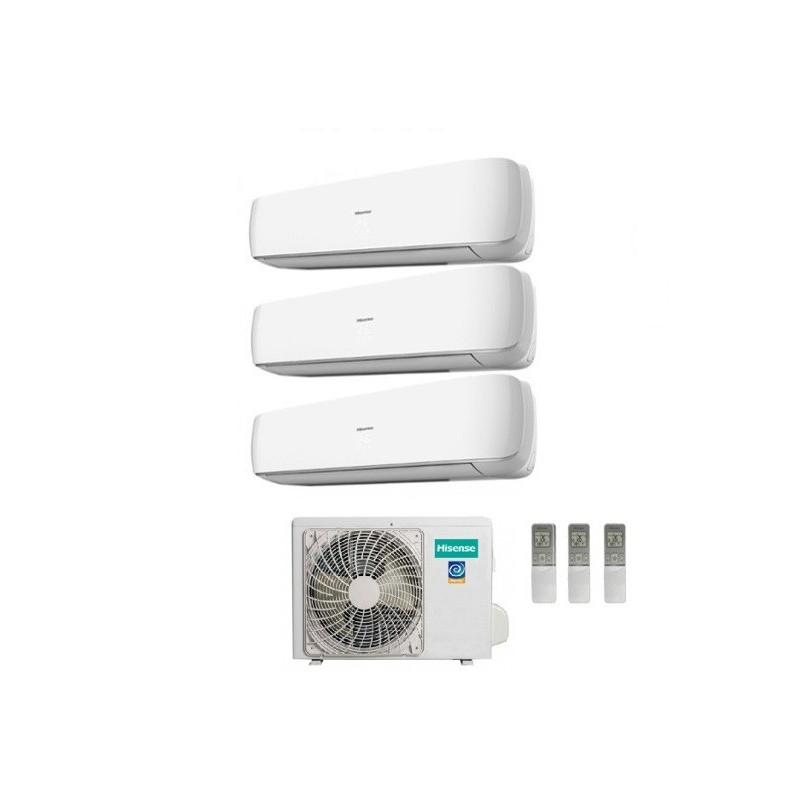 Climatizzatore Hisense Trial Split Inverter Serie Mini Apple Pie 9+9+9 Con Amw3-20u4szd1