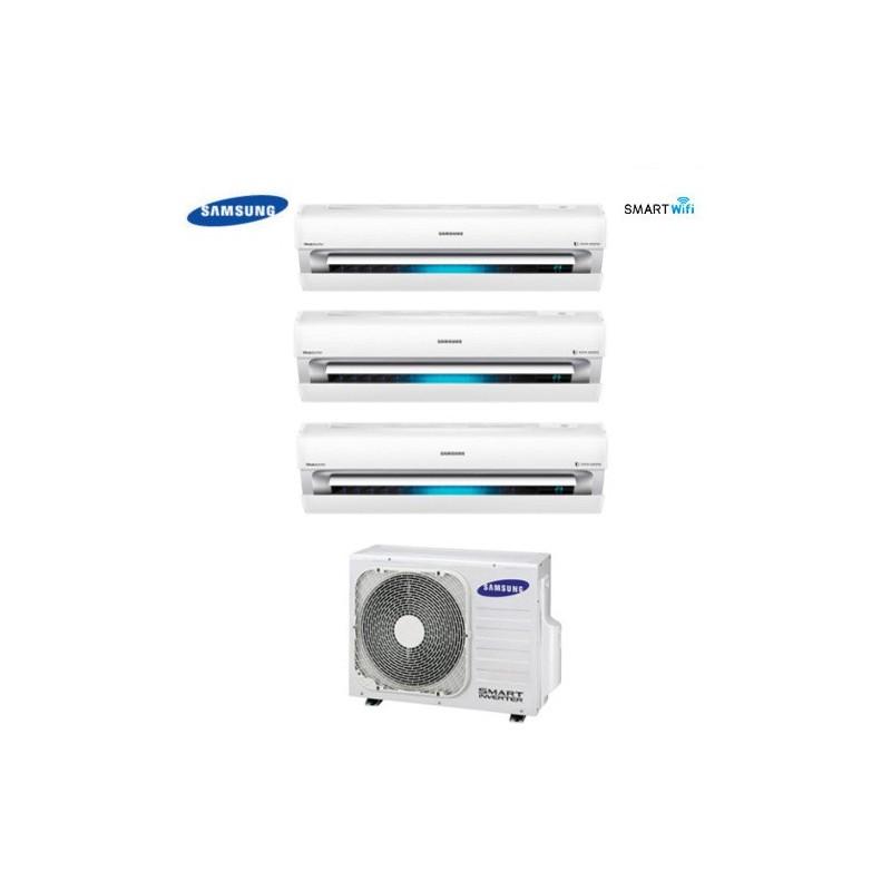 Climatizzatore Condizionatore Trial Split Samsung Inverter Serie Ar9000m Smart Wifi 9+9+12 Con Aj052fcj + Staffa Omaggio