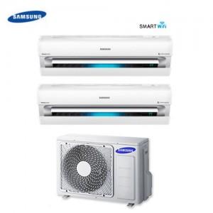 Climatizzatore Condizionatore Dual Split Samsung Inverter 9+12 Serie Ar9000m Smart Wifi 9000+12000 Con Aj050fcj + Staffa Omaggio