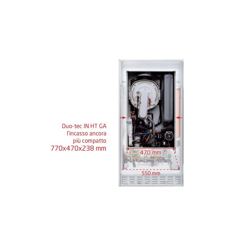 Caldaia Baxi Luna Duo-tec In+ 24 Ga A Condensazione Completa Di Kit Scarico Fumi