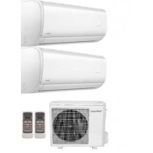 Climatizzatore Condizionatore Dual Split 9+9 Comfee Inverter Sirius Con Potenza Di 9000+9000 Btu Con U.e. 2d-18k