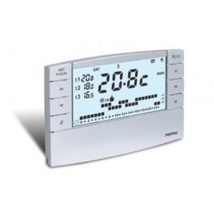 "Perry Electric Cronotermostato Digitale Settimanale 230v Serie ""zefiro"" Mod. 1cr Cr025b Con Modem Gsm Colore Bianco"