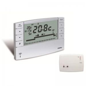 Perry Electric Cronotermostato Wireless 1tx Crtx05rx01 Composto Da Cronotermostato Radio 1tx Crtx05 + Ricevitore Radio