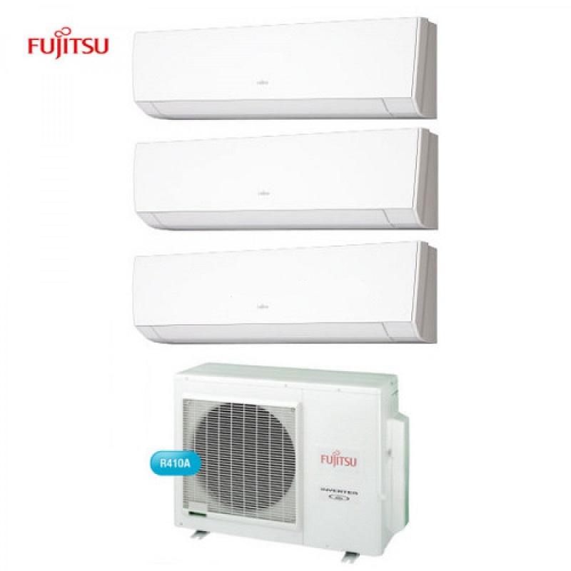 Climatizzatore Condizionatore Fujitsu Trial Split 9+9+9 Serie Lm Inverter Da 9000+9000+9000 U.e. Aoyg18l Btu In Classe A++