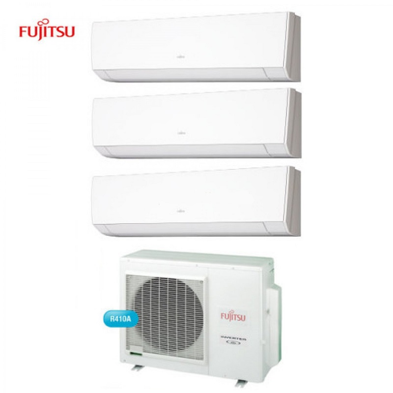 Climatizzatore Condizionatore Fujitsu Trial Split 7+9+12 Serie Lm Inverter Da 7000+9000+12000 U.e. Aoyg18l Btu In Classe A++