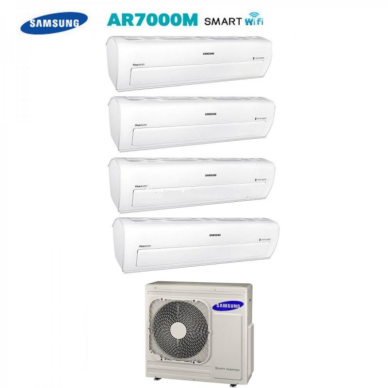 Climatizzatore Condizionatore Quadri Split Samsung Inverter Serie Ar7000m Smart Wifi 9+9+9+9 Con Aj070fcj + Staffa