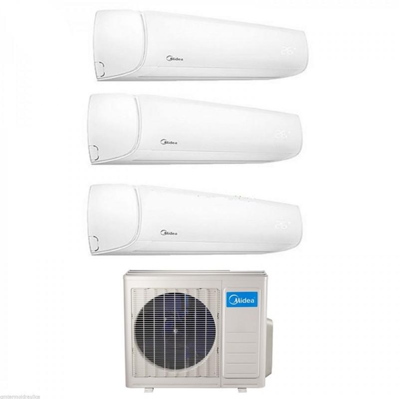 Climatizzatore Condizionatore Trial Split Inverter Midea Mission 9000+9000+9000 Btu Con 3m-79k  - 9+9+9 - A++