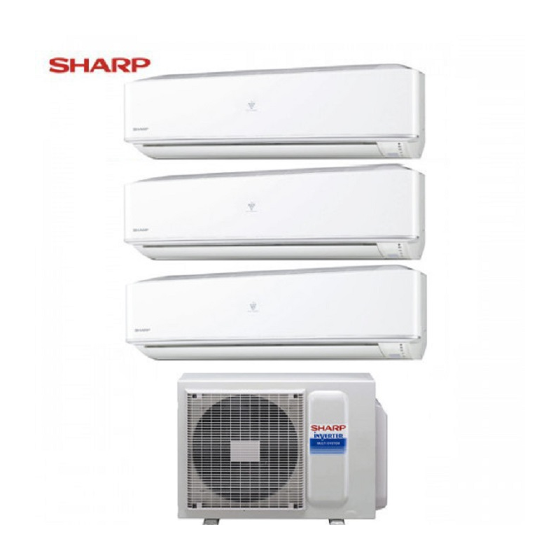 Climatizzatore Sharp Trial Split Hi Wall Inverter Serie Phr 9+9+9 Con Ae-x3m18jr
