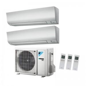 Climatizzatore Condizionatore Daikin Dual Split 9+12 Inverter Perfera Serie Ftxm Bluevolution R-32 9000+12000 Con 2mxm50m