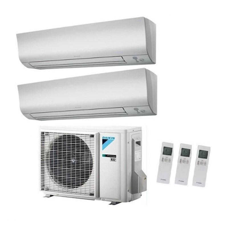 Climatizzatore Condizionatore Daikin Dual Split 9+18 Inverter Perfera Serie Ftxm Bluevolution R-32 9000+18000 Con 2mxm50m