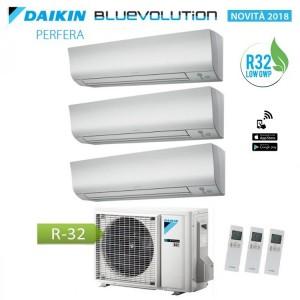 Climatizzatore Condizionatore Daikin Trial Split 7+7+9 Inverter Perfera Serie Ftxm Bluevolution R-32 7000+7000+9000 Con 3mxm52m