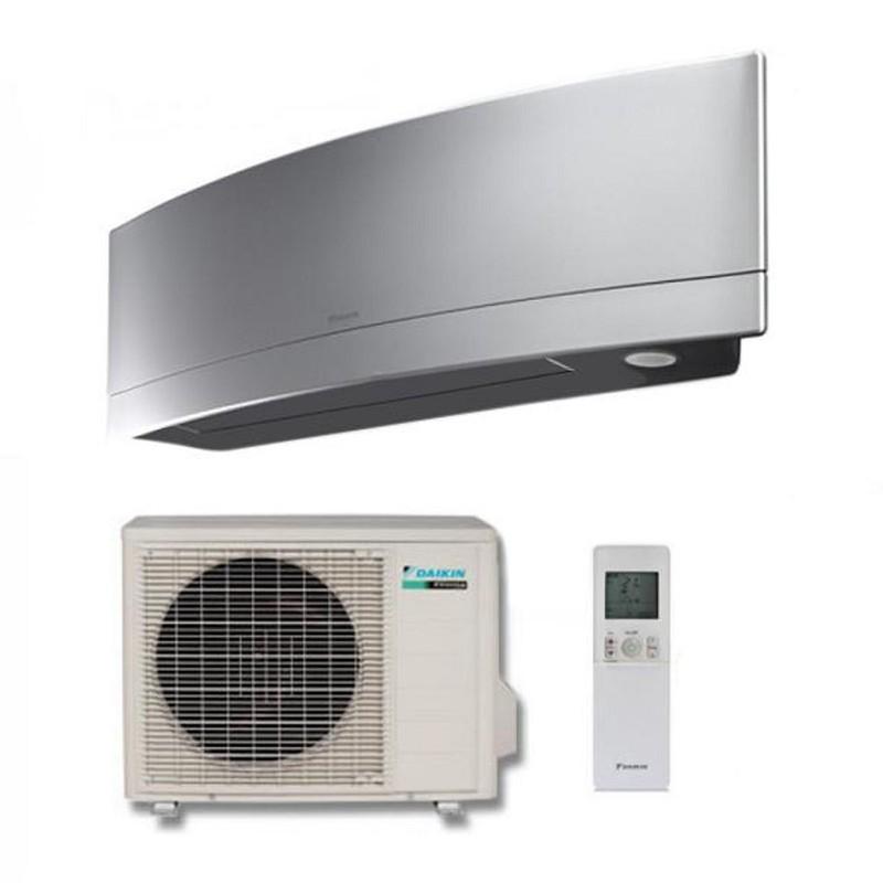 Climatizzatore Condizionatore Daikin Inverter Emura Silver Wi-fi Ftxj25ms R-32 Bluevolution A+++ 9000 Btu