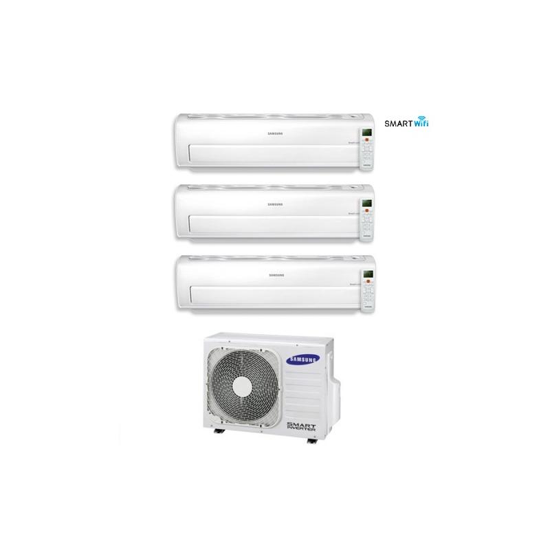 Climatizzatore Trial Split Samsung Inverter Serie Ar7000m Smart Wifi 7+7+12 Con Aj068fcj