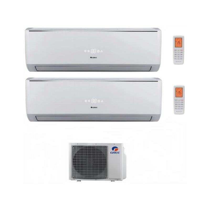 Climatizzatore Condizionatore Gree Dual Split Inverter Serie Lomo 9000+12000 Con Gwhd18nk3ko