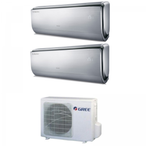Climatizzatore Condizionatore Gree Dual Split Inverter Serie U-crown 9000+12000 Con Gwhd18nk3ko