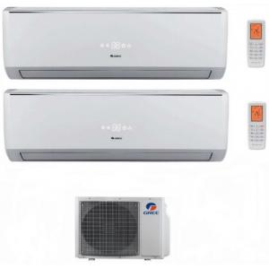 Climatizzatore Condizionatore Gree Dual Split Inverter Serie Lomo 9000+18000 Con Gwhd21nk3ko