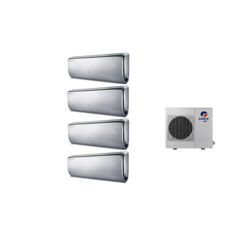 Climatizzatore Condizionatore Gree Quadri Split Inverter Serie U-crown 9+9+12+12 Con Gwhd36nk3bo