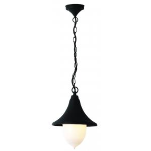 Lanterna Da Esterno In Alluminio Con Catena Cm 25 Serie Parigi Colore Nero