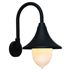 Lanterna Da Esterno In Alluminio Con Braccio Cm 43 Serie Parigi Colore Nero