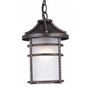 Lanterna Da Esterno In Alluminio Con Catena Cm 28 Mod. Anversa Colore Ruggine