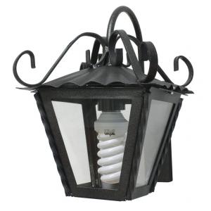 Lanterna Da Esterno In Ferro Battuto Con Braccio Cm 21x21x28h Mod. Garden