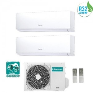 Climatizzatore Condizionatore Hisense Dual Inverter 9+9 Serie New Comfort 9000+9000 Btu 2amw42u4rra Gas R32 A++ Wi Fi Ready