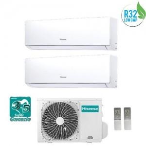 Climatizzatore Condizionatore Hisense Dual Inverter 9+12 Serie New Comfort 9000+12000 Btu 2amw42u4rra Gas R32 A++ Wi Fi Ready