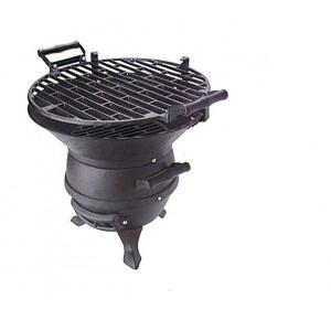 """Barbecue Lampo A Carbone In Ghisa Portatile """"lampo"""" Diam.36 Cod.12303"""