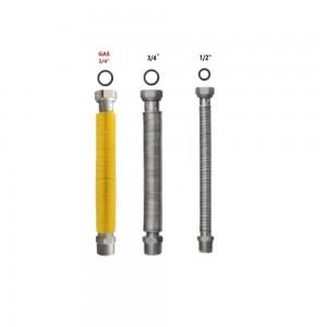 Kit Scaldabagno Con Tubi Flessibili Estendibili Universali In Acciaio Inox Per Acqua E Gas