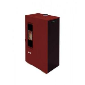 Stufa a Pellet KING 5 Mini King 5 kW per Ambienti fino a 135 m3 Bordeaux con Telecomando