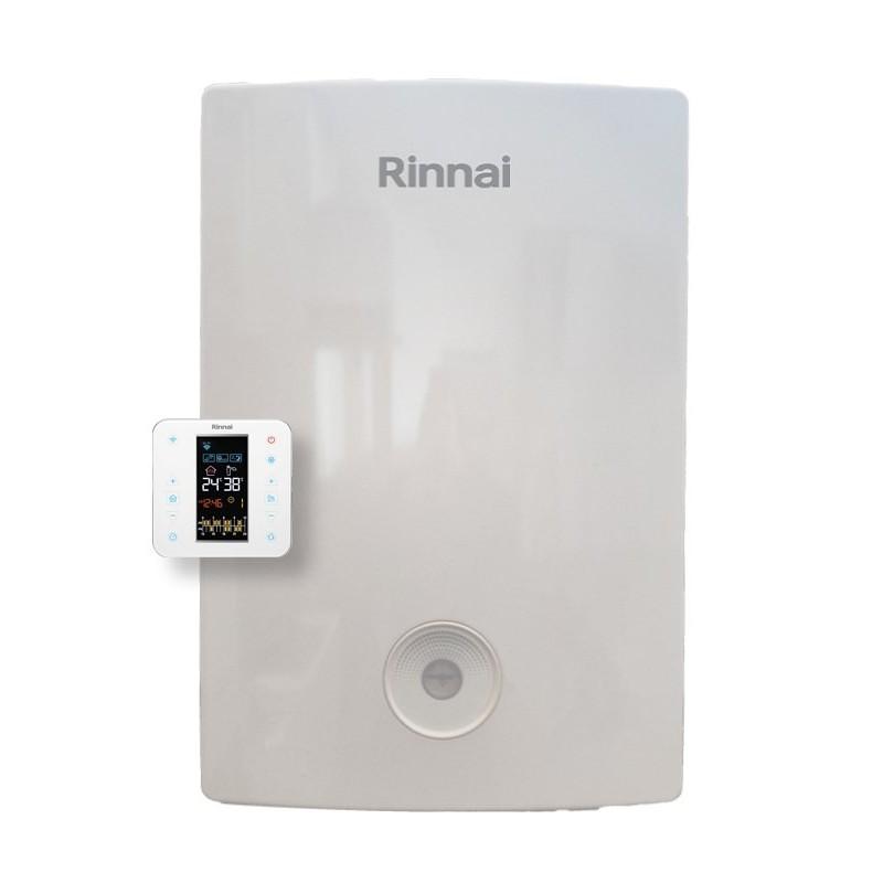Caldaia Rinnai a Condensazione Momiji 24 kW Completa di Kit Scarico FUmi con Cronotermostato Wi-Fi Intergrato Metano Low NOx