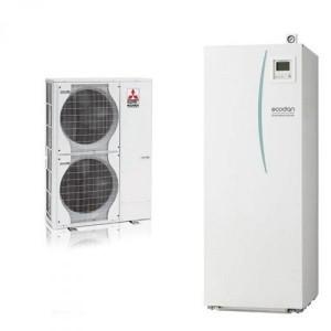 POMPA DI CALORE ARIA-ACQUA MITSUBISHI ELECTRIC ECODAN-HYDROTANK PUHZ-5W 120 V(Y)HA (TRIFASE)