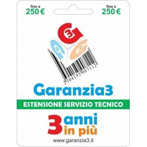 Garanzia3 - Estensione del Servizio Tecnico Fino a 250 Euro