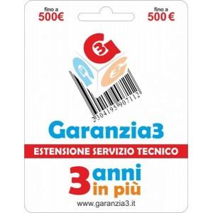 Garanzia3 - Estensione del Servizio Tecnico Fino a 500 Euro